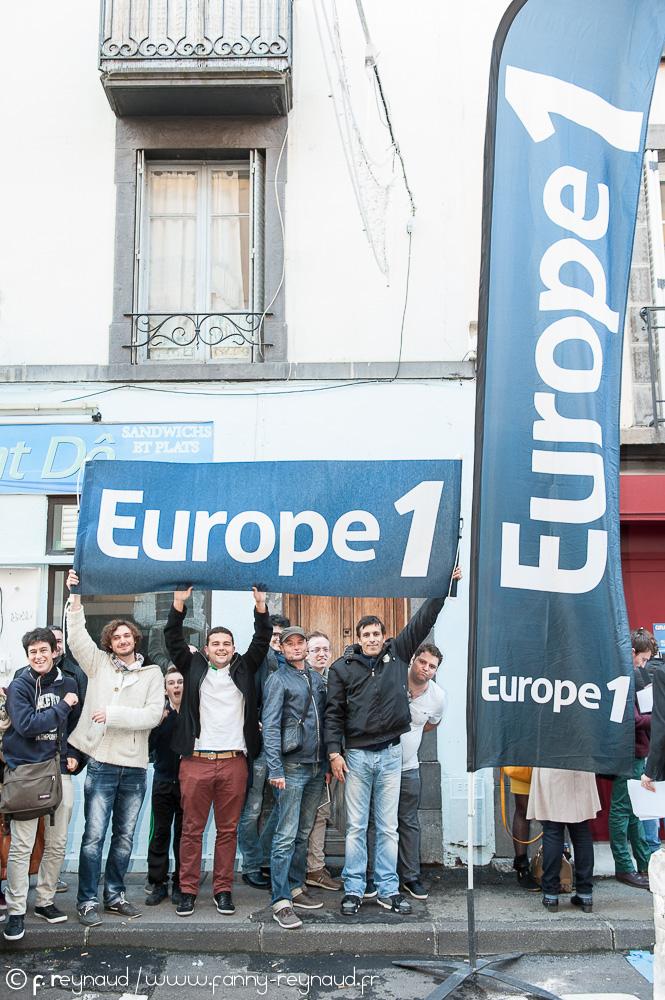 Candidats au casting Europe 1 pour trouver un nouveau chroniqueur à Clermont-Ferrand.